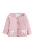 Little English Bow Sweater - Pink Sweater | Bygeorgebaby