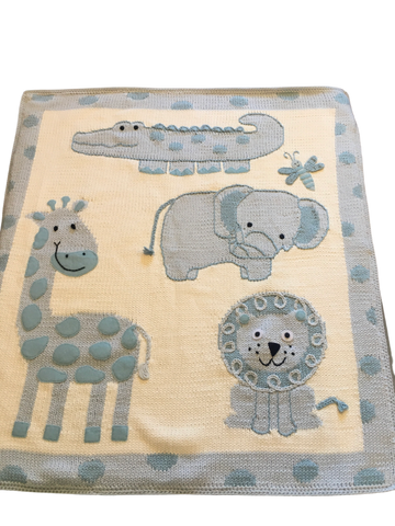 Art Walk Blue Jungle Baby Blanket-