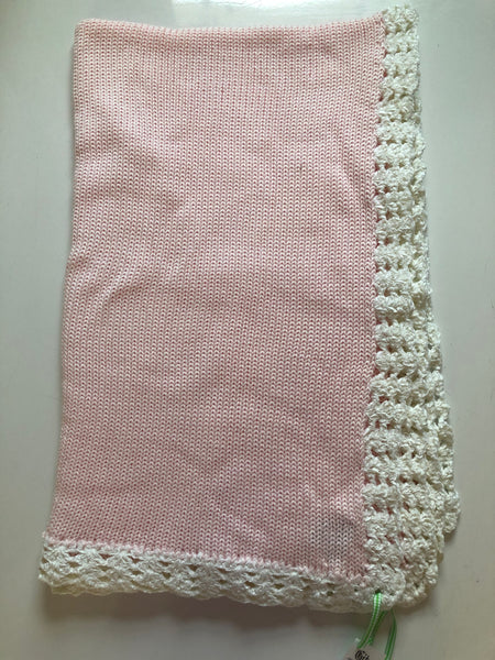 Pink Hand Knit Blanket