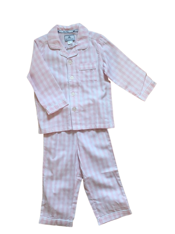 Pink Gingham 2pc Pajama