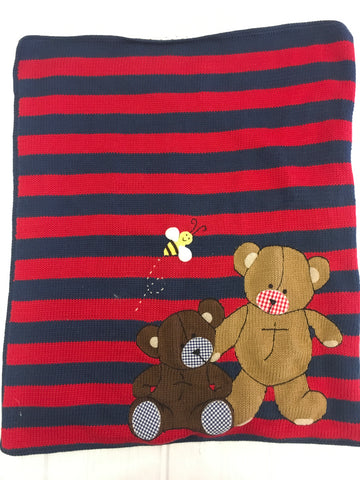 Art Walk Rugby Teddy Bear Blanket