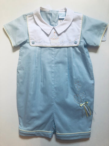 Will'Beth Boys Birthday Romper