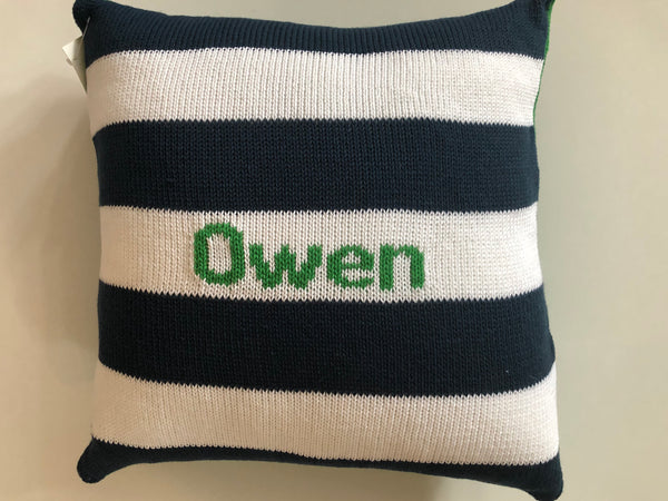 Knit Name Pillow - You pick the colors!