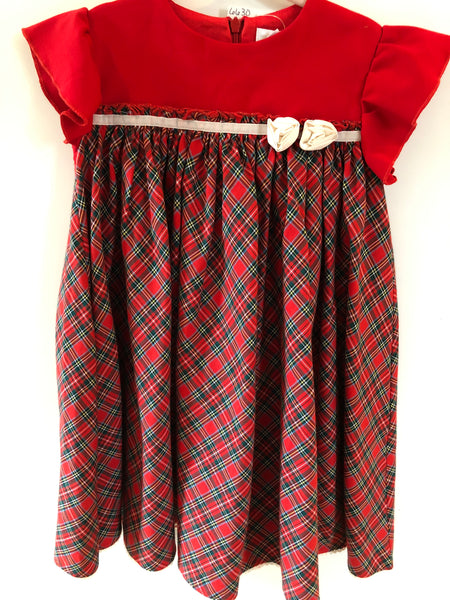 Mag. Baby Plaid Holiday Dress
