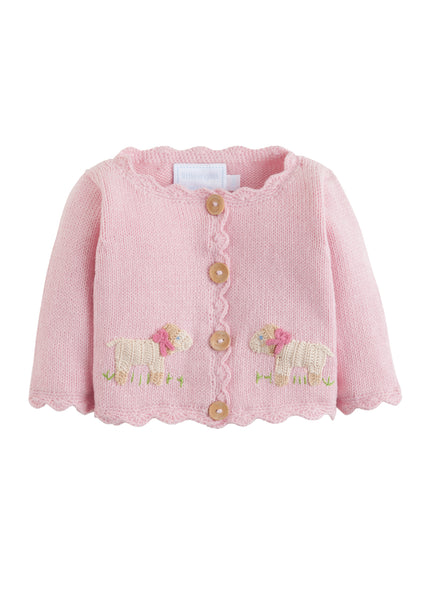 Little English Pink Sheep Sweater - Baby Girl Sweater | Bygeorgebaby