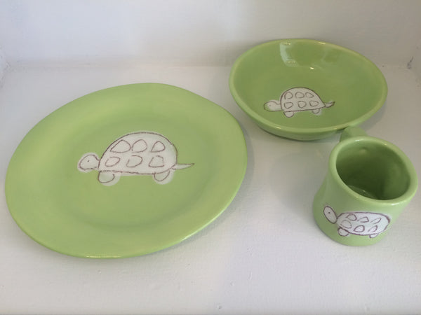 Green Turtle Plate set