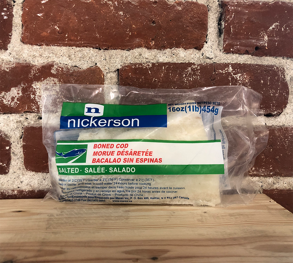 Nickerson Boned Salt Cod (Baccala)