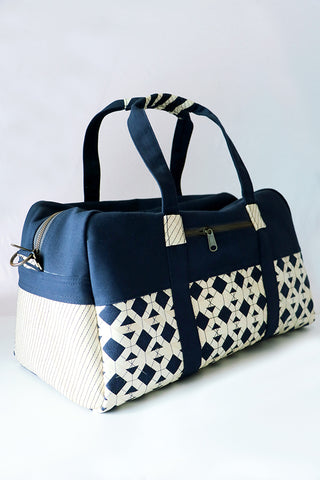 Palm Duffel Bag- Navy