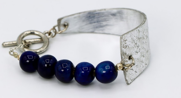 Steel & Clay Shard Bracelet- Blue