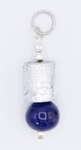 Steel & Clay Barrel Charm- Blue