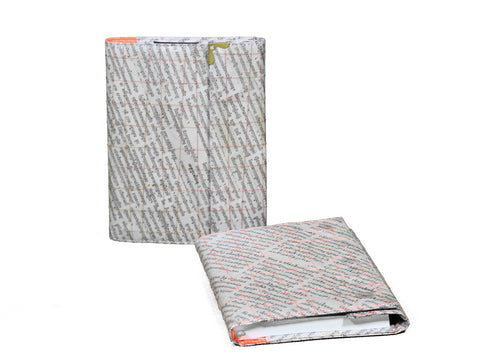 Newspaper Notebook (Orange)