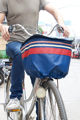 Bicycle Basket Cover (Blue Stripe)