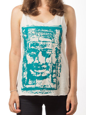Bayon Face Tank for Women (White)