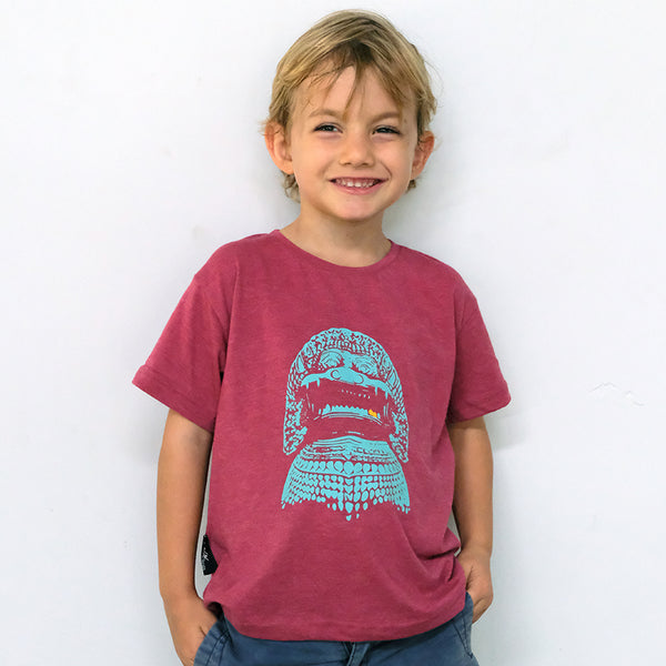 Turquoise Lion for Kids- Maroon