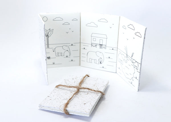 Elephant Paper Greeting Card (set)