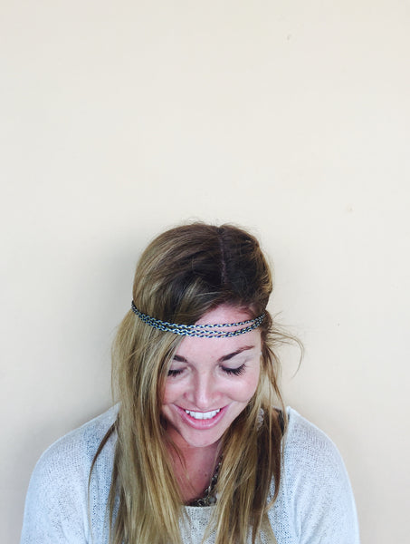 Braided Headband (Blue)