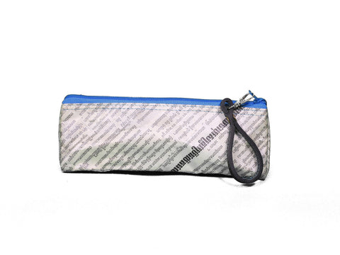 Newspaper Pencil Case (Blue)