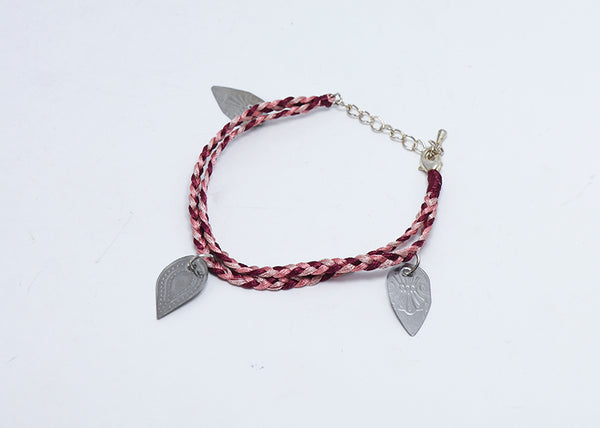 Tea Spoons to Tea Leaves Bracelet (Blush)