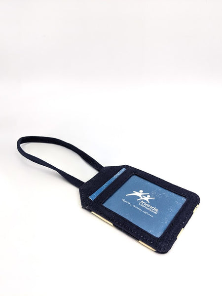 Palm Luggage Tag- Navy