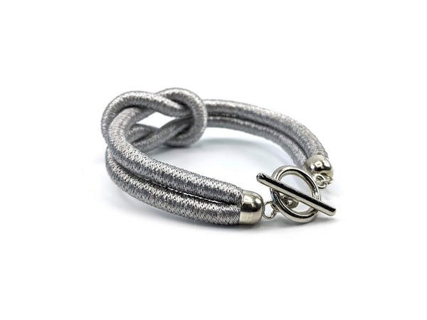 Knot thread wrap Bracelet (Silver)