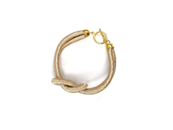 Knot thread wrap Bracelet (Gold )