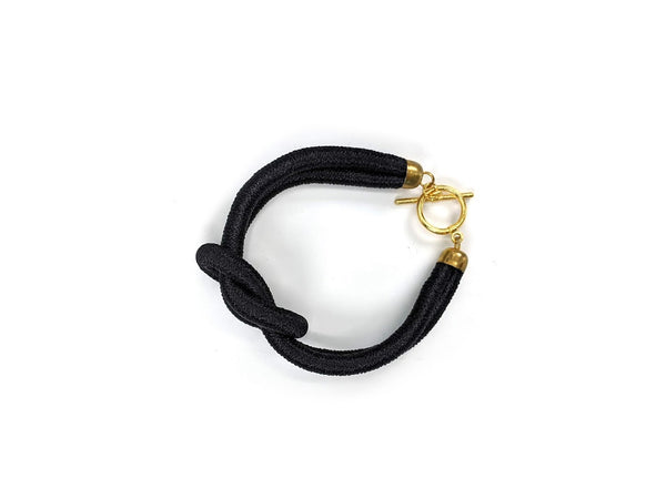 Knot thread wrap Bracelet (Black)