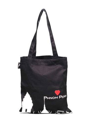 Love Phnom Penh Tote Bag (Black)