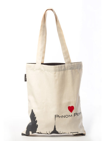 Love Phnom Penh Tote Bag (Cream)