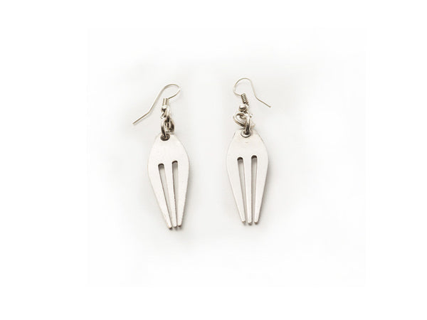 Metal Fork Earrings