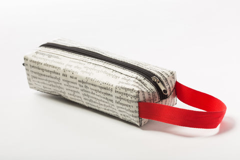 Newspaper Pencil Case (Red)