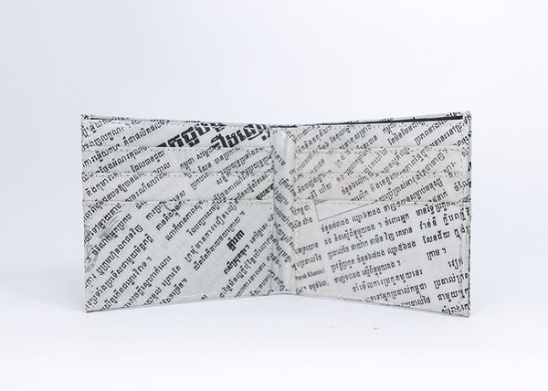 Newspaper Bi-fold Wallet