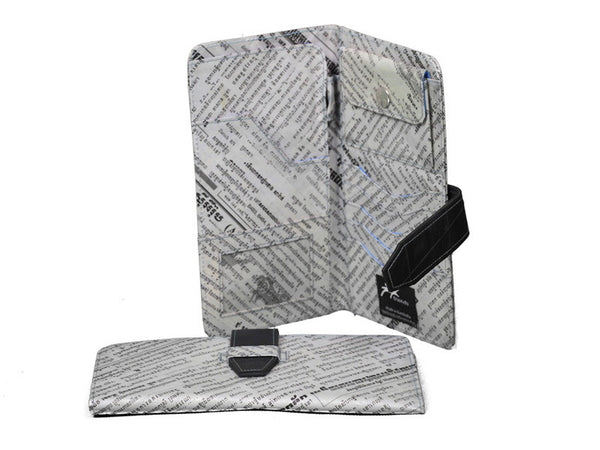Newspaper Travel Wallet (Blue)