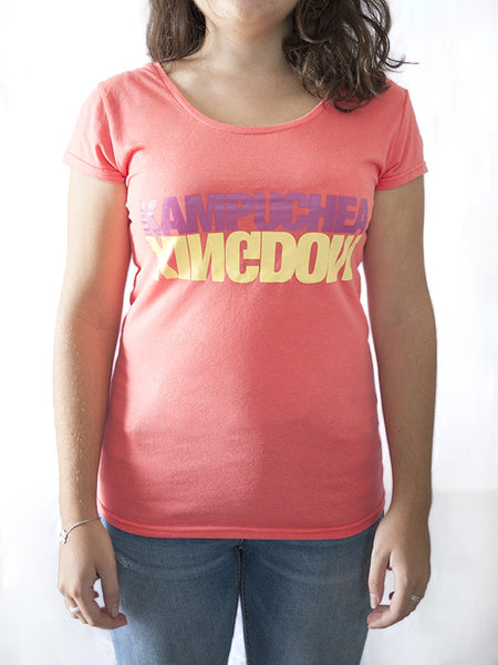 Kampuchea Kingdom T-Shirt for Women (Peach)