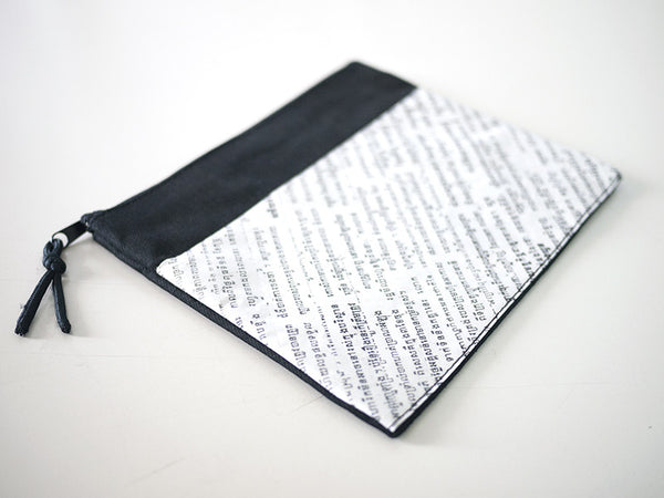 Newspaper Zipper Case (Medium)