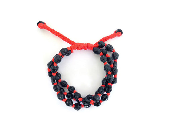 Painted Paper Pepper Bracelet (Red)