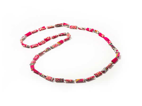 Paperclip & Sarong Fabric Necklace