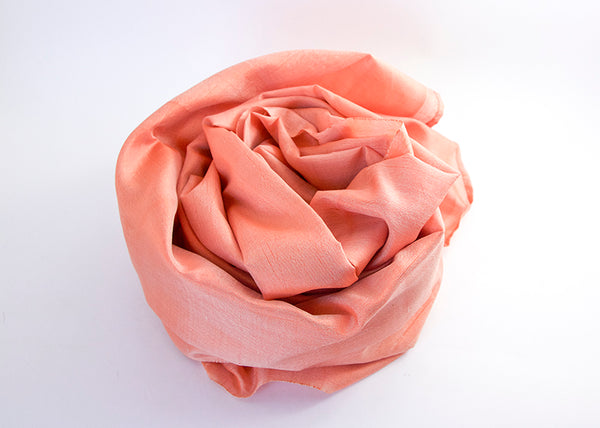 Silk Scarf: Peach