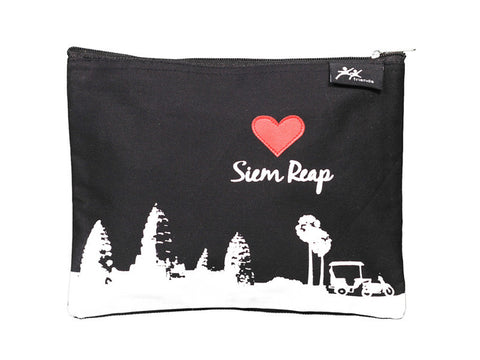 Love Siem Reap Zipper Case (Black)