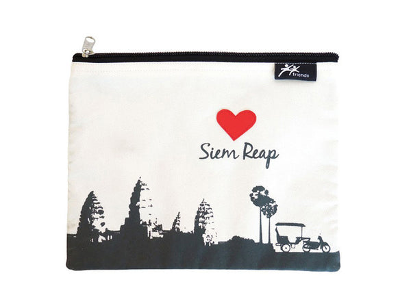 Love Siem Reap Zipper Case (Cream)