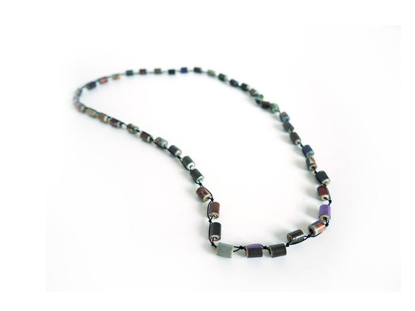 Square Paper Bead Necklace