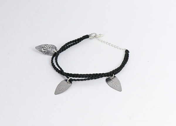 Tea Spoons to Tea Leaves Bracelet (Black)
