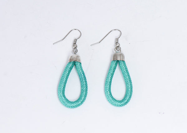 Thread Wrap Earring (Turquoise)