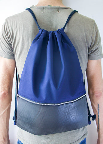 Tire Drawstring Bag (Navy)
