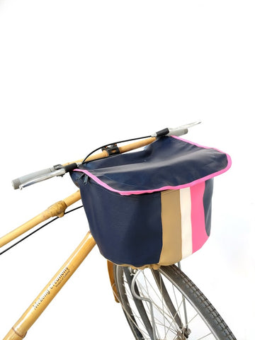 Racer blue bicycle cover
