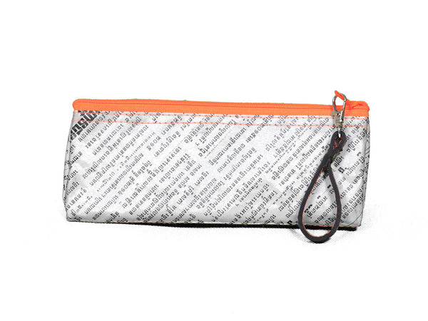 Newspaper Pencil Case (Orange)