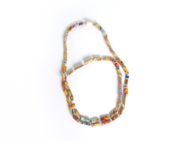 Paperclip/Food Packaging Necklace