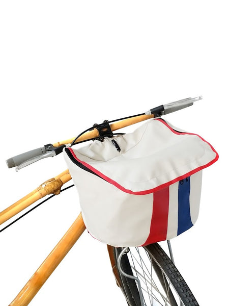 Racer white bicycle cover
