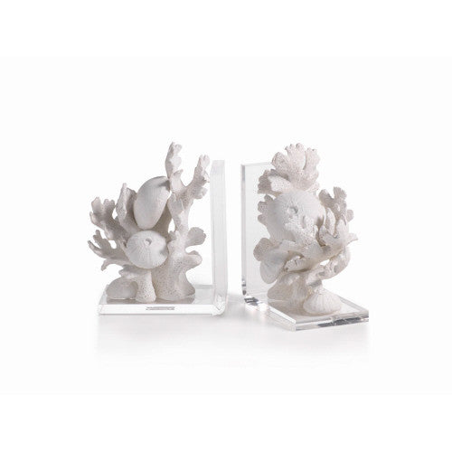 White Coral Beach Book End