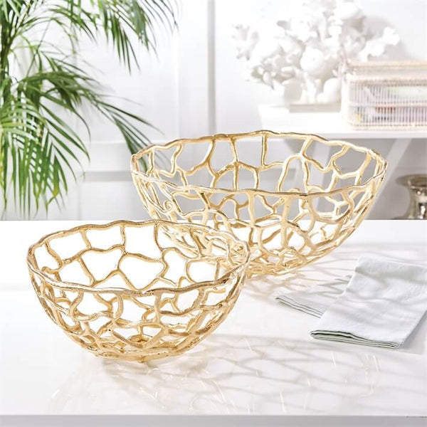 Gold Meteor Decorative Bowls