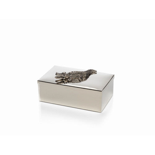 Silver Crocodile Box